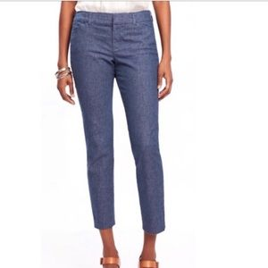NWT Old Navy Pixie ankle length chambray pants